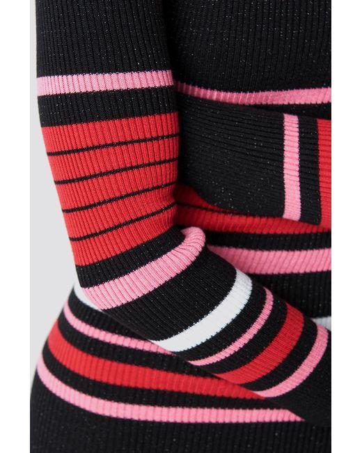 1cecd92b497 Lyst - Trendyol Stripe Sweater Midi Dress Black in Black