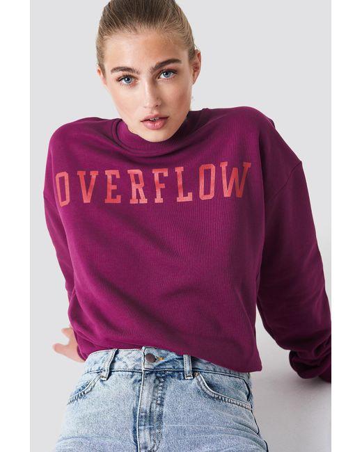 NA-KD - Purple Overflow Sweatshirt Burgundy - Lyst