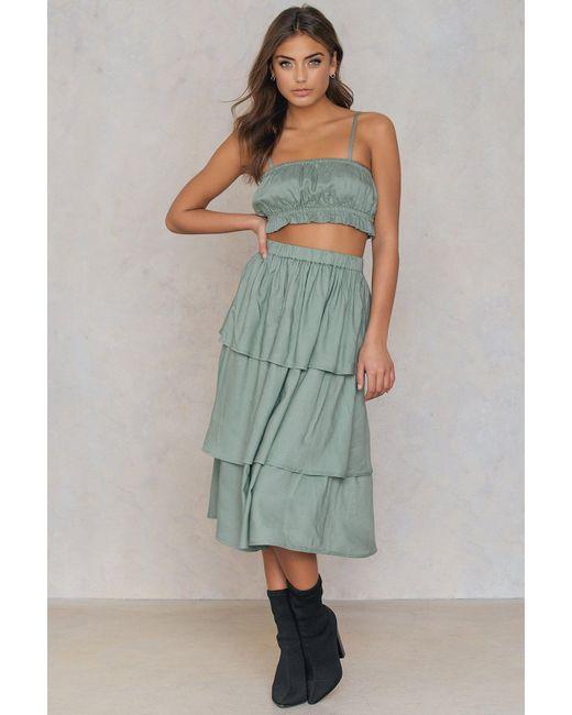 NA-KD - Green Triple Layer Skirt - Lyst