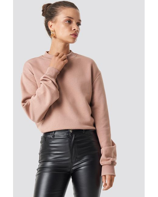 NA-KD - Multicolor Basic Sweater Dusty Dark Pink - Lyst