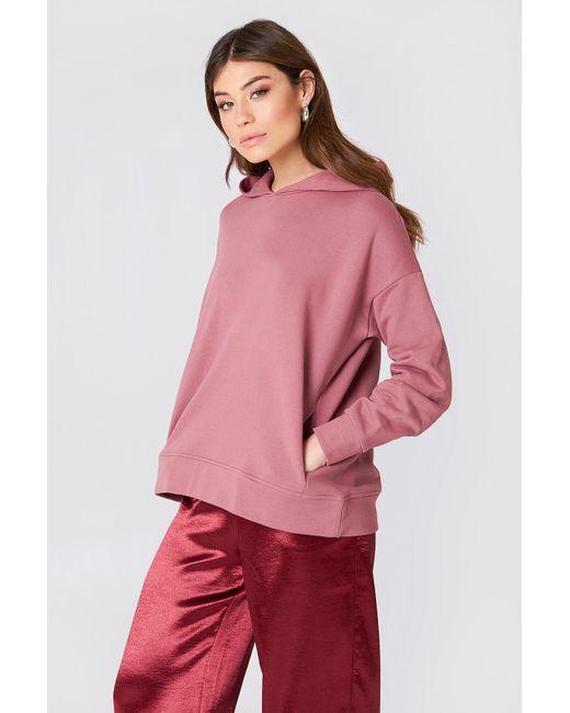 NA-KD - Pink Gathered Sleeve Hoodie - Lyst