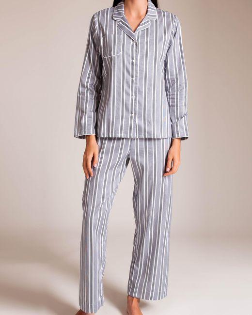 5829c14461b7b Lyst - Derek Rose Classic Milly Pajama in Blue