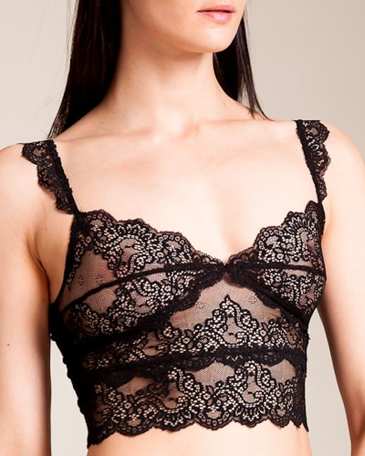 Only Hearts | Black So Fine Lace Cropped Camisole | Lyst