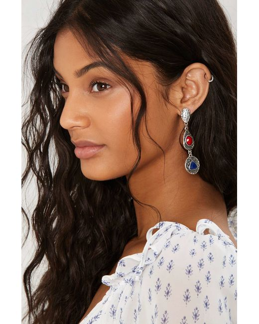 Nasty Gal | Metallic Primary Drop Earrings | Lyst