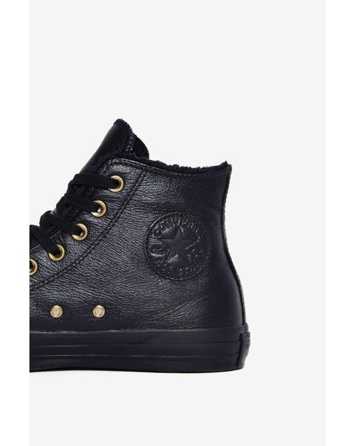 Converse Chuck Taylor All Star Winter Knit + Fur Leather