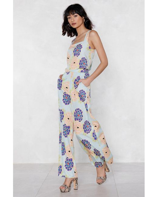 """Nasty Gal - Blue """"the Flower Of Love Floral Pants"""" - Lyst"""