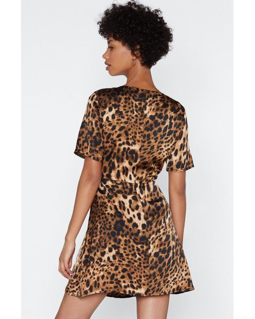 5f3e2bacf1e9 ... Nasty Gal - Brown If Not Meow Leopard Dress - Lyst
