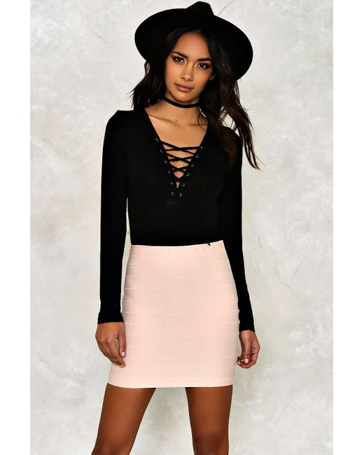 Nasty Gal   Black Diane Mini Skirt   Lyst
