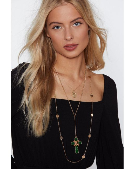 Nasty Gal - Metallic Blessing In Disguise Necklace - Lyst