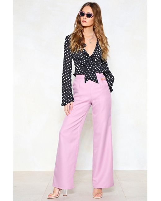 "Nasty Gal - Purple ""hitch A Wide Pants"" - Lyst"