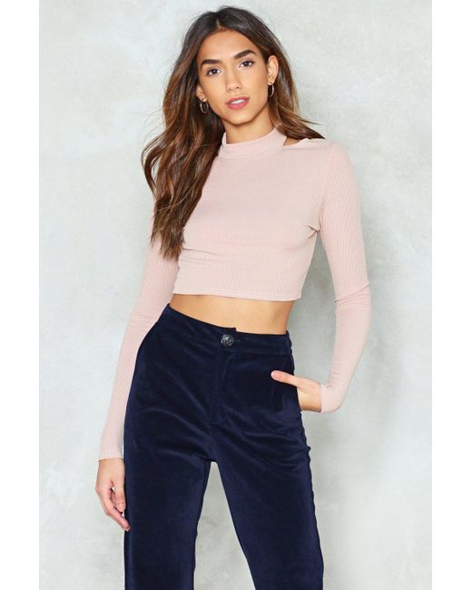 Nasty Gal - Blue Cut-out Of The Question Crop Top Cut-out Of The Question Crop Top - Lyst