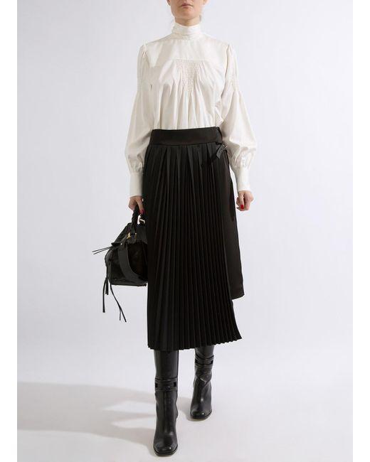Loewe - Black Pleated Skirt - Lyst