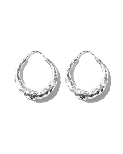 All_blues - Metallic Hungry Snake Earring Carved Silver - Lyst