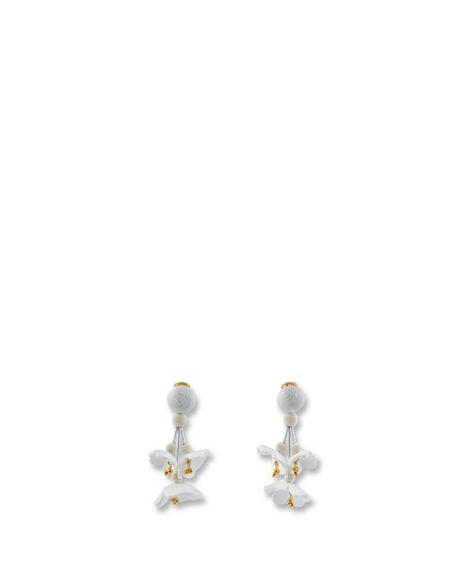 Oscar de la Renta - Multicolor Falling Flower Earring - Lyst