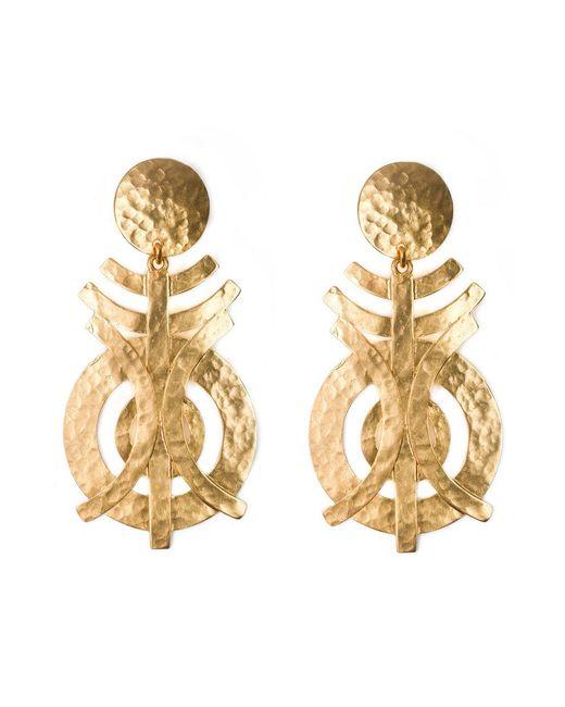 Natori | Metallic Gold Geo Earrings | Lyst