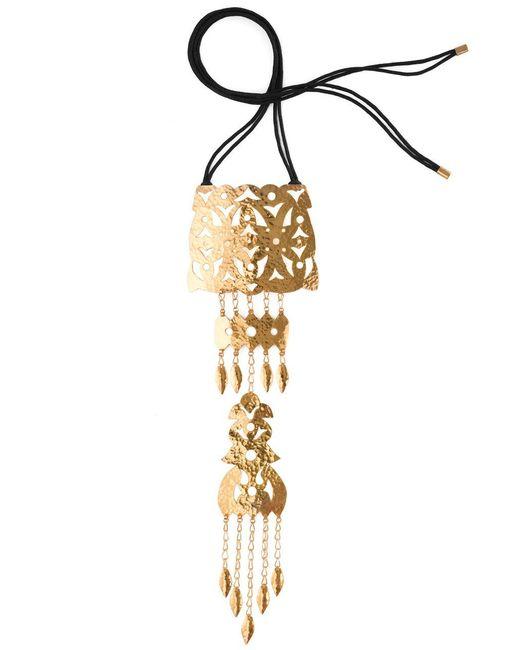 Natori - Metallic Hammered Gold Crown Necklace - Lyst