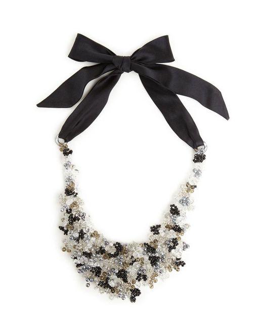 Natori - Josie Beaded Bib Necklace - Black - Lyst