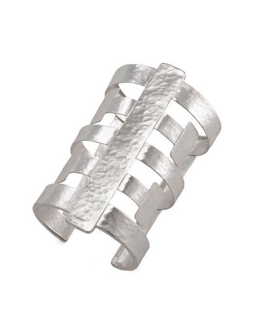 Natori - Metallic Silver Geo Cuff - Lyst