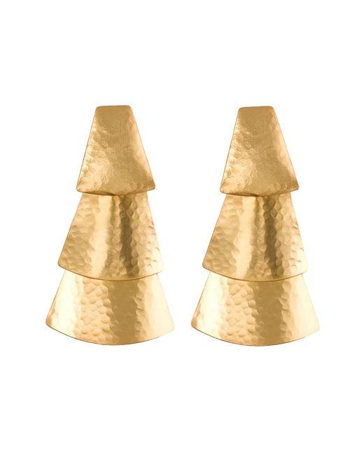 Natori   Metallic Hammered Gold Triangle Earrings   Lyst