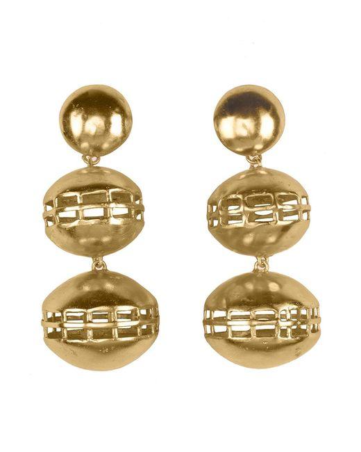 Natori | Metallic Josie Gold Brass Double Cage Earrings | Lyst