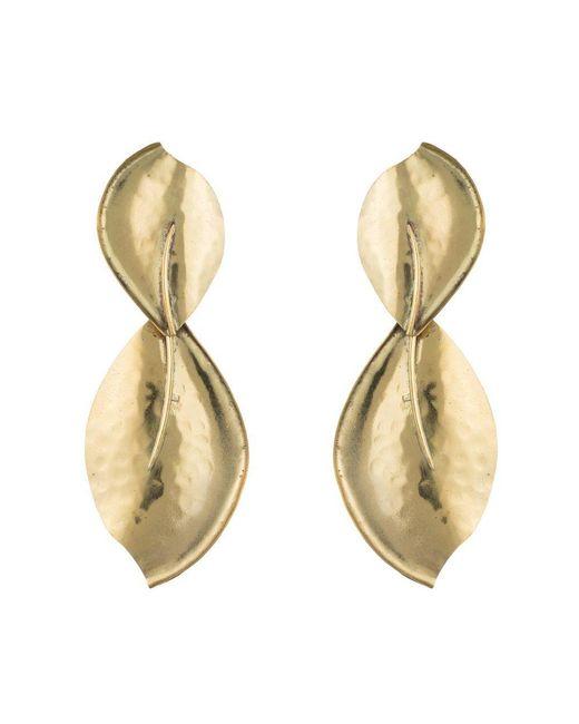 Natori | Metallic Josie Brass Leaf Earrings | Lyst