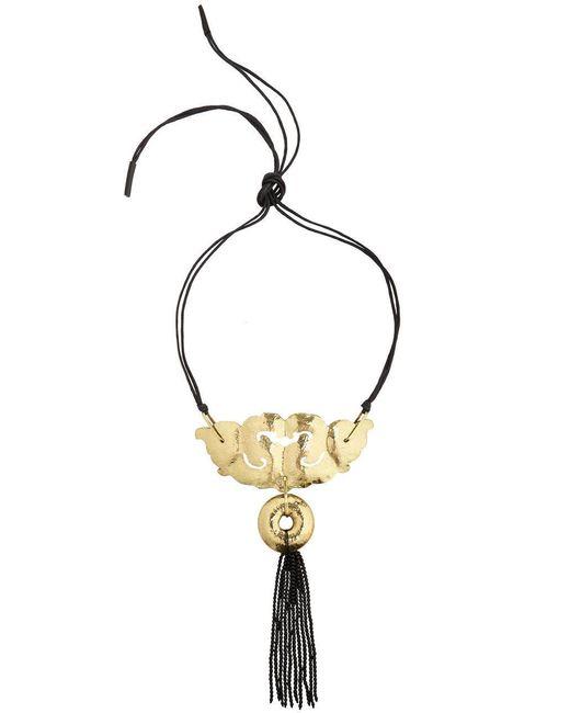 Natori   Metallic Josie Beaded Tassel Necklace   Lyst