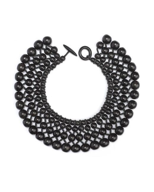 Natori | Black Josie Four Layer Beaded Necklace | Lyst