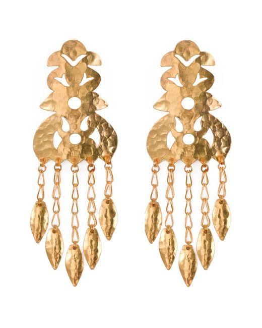 Natori | Metallic Hammered Gold Crown Earrings | Lyst