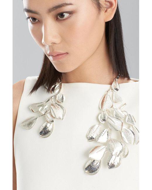 Natori   Metallic Hammered Metal Necklace   Lyst