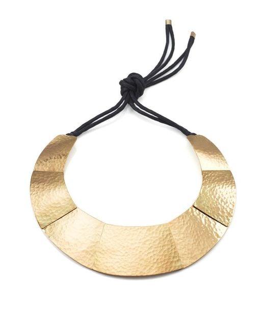 Natori | Metallic Josie Geometric Brass Necklace | Lyst