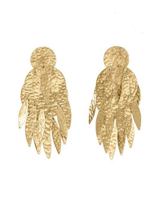 Natori - Metallic Josie Gold Brass Dangling Earrings - Lyst