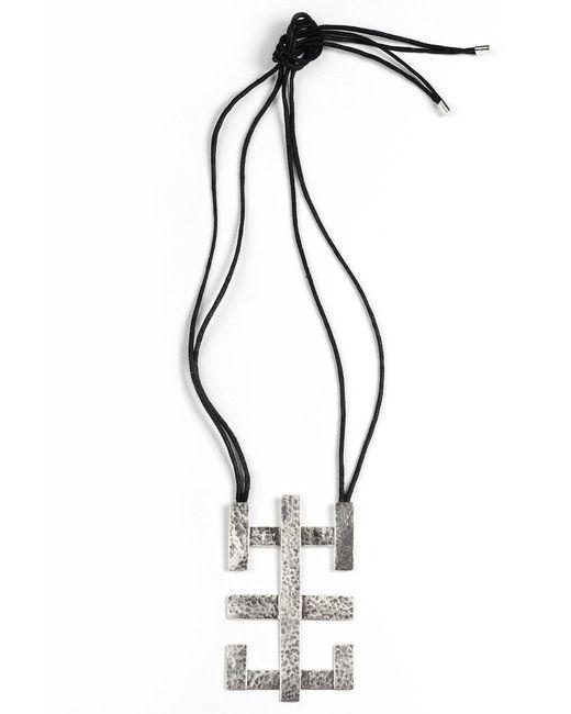 Natori   Metallic Silver Geo Geometric Necklace   Lyst
