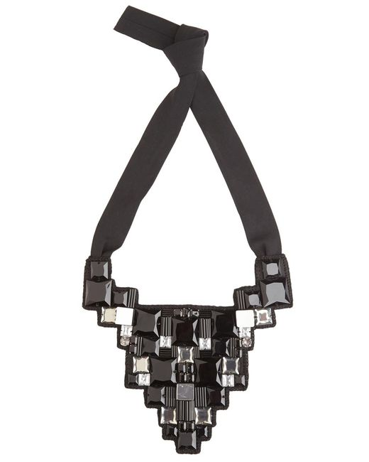 Natori | Black Josie Geometric Necklace | Lyst