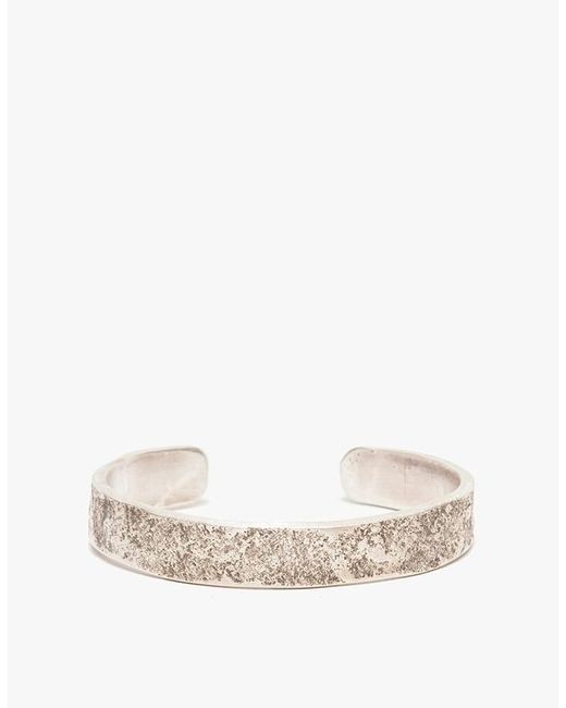 Cause and Effect - Metallic Silver Rock Texture Cuff for Men - Lyst