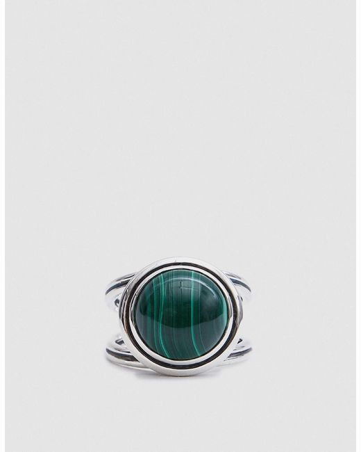Pamela Love | Metallic Phoebe Ring In Sterling Silver With Malachite | Lyst