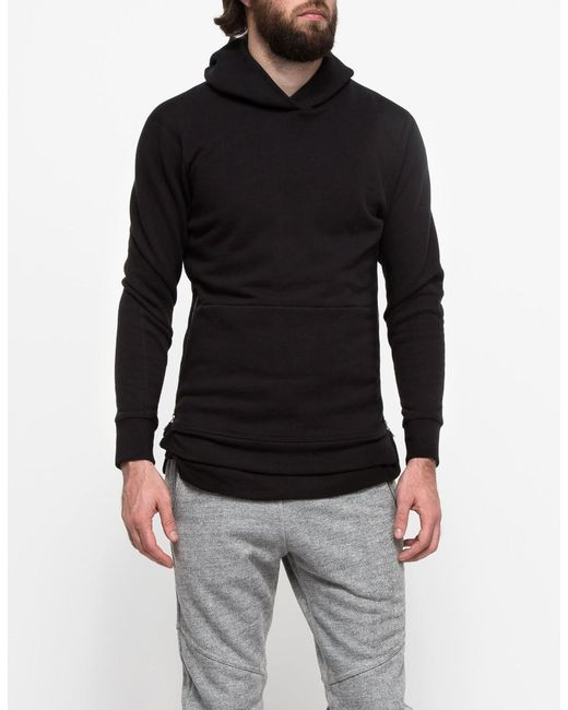 John Elliott - Hooded Villain Sweatshirt In Black for Men - Lyst