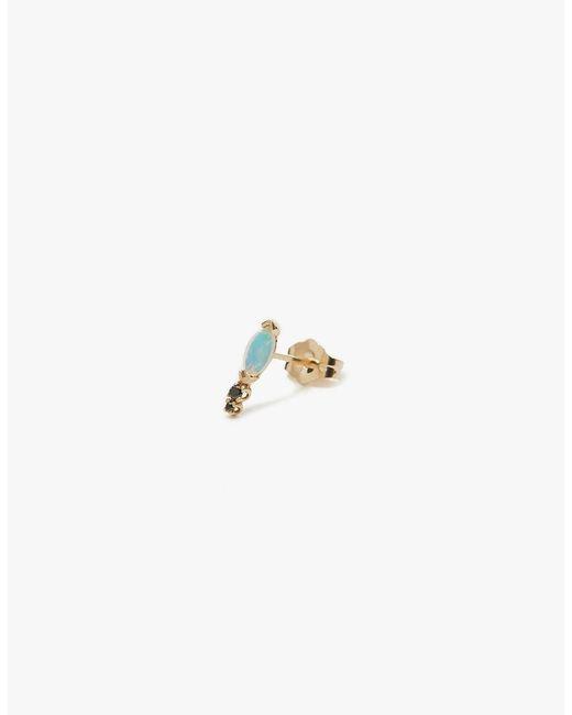Wwake | Metallic Classic Marquis Opal & Diamond Earring | Lyst