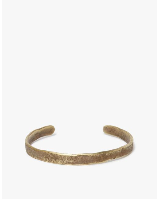 Cause and Effect | Multicolor Flat Brass Textured Cuff | Lyst