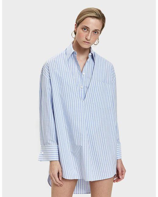 Mm6 By Maison Margiela Woman Striped Cotton-poplin Shirt Sky Blue Size 42 Maison Martin Margiela For Sale Online Free Shipping Release Dates BabDC