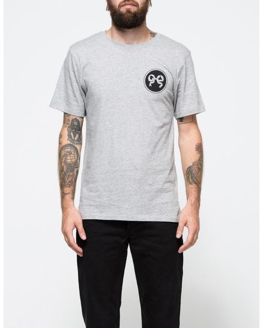 Soulland - Gray Ribbon T-shirt In Grey Melange for Men - Lyst