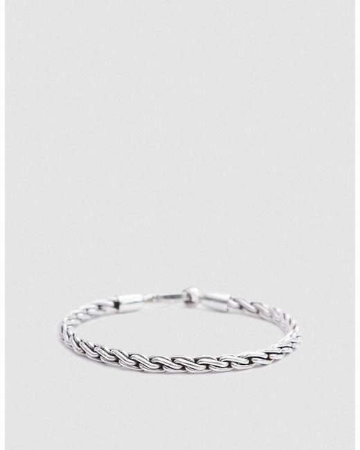 Caputo & Co. - Metallic Chunky Sterling Silver Chain Rope Bracelet - Lyst