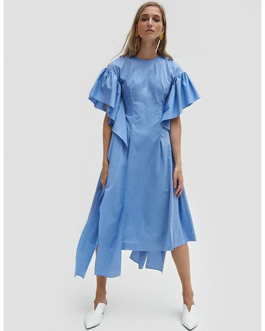 Rejina Pyo | Blue Grace Long Strip Sleeve Dress | Lyst