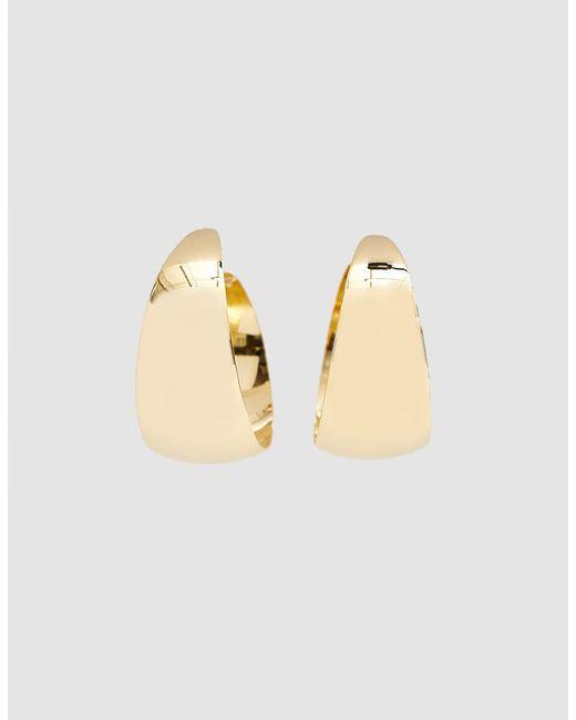 Trademark - Metallic Small Flat Hoops - Lyst