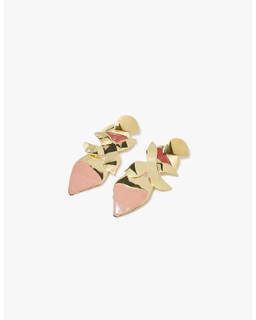 Lizzie Fortunato   Metallic Orchid Earrings   Lyst