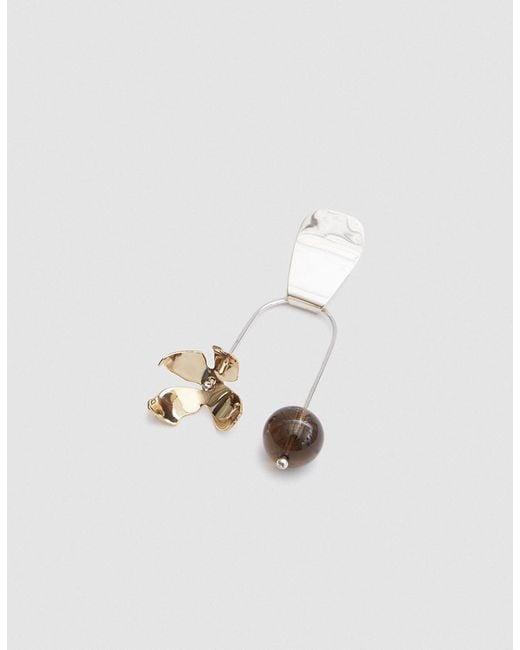 Faris - Metallic Balance Ladyday Earring - Lyst