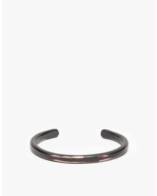 Cause and Effect - Thin Black Copper Bar Cuff for Men - Lyst