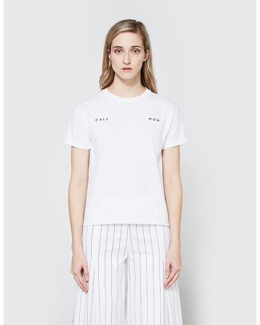 Collina Strada - White Call Mom Tee - Lyst