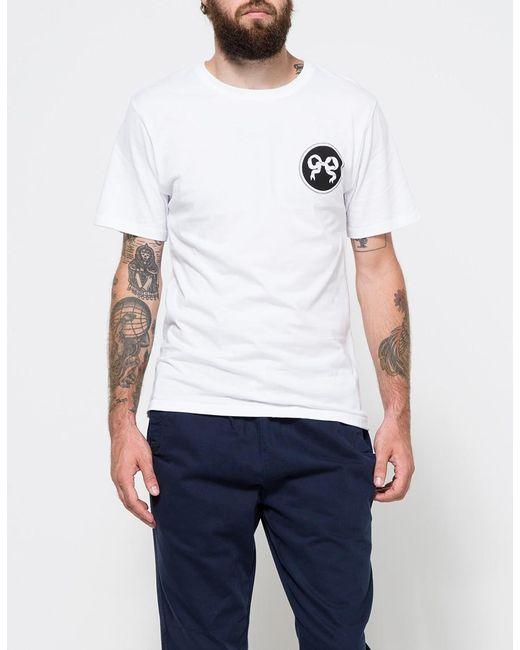 Soulland - Ribbon T-shirt In White for Men - Lyst