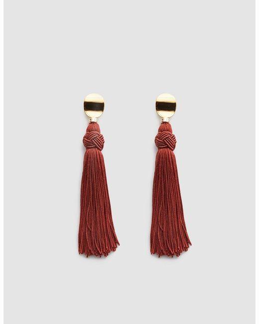 Lizzie Fortunato - Red Sienna Luxe Tassel Earrings - Lyst