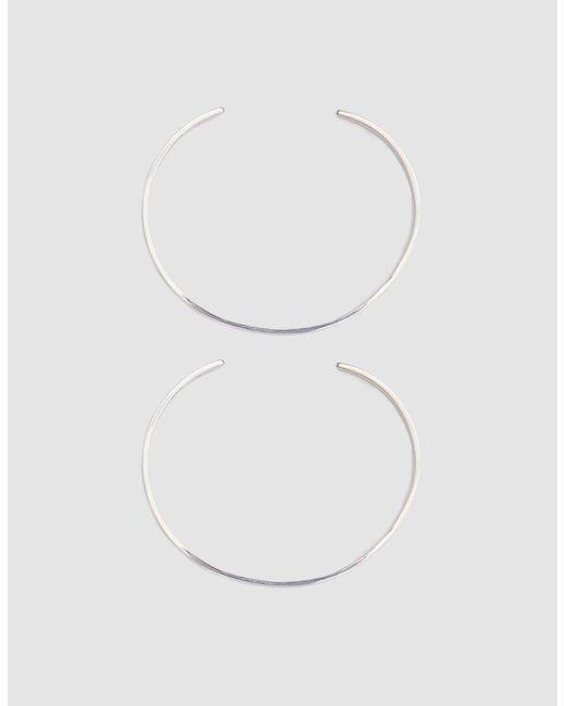 Loren Stewart - Metallic Set Of Two Sterling Silver Cuffs - Lyst